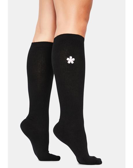 Picking Flowers Knee High Socks