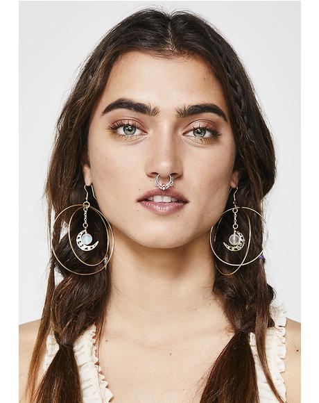 Moon Rising Hoop Earrings