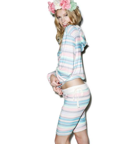 Wildfox Couture Pastel Blanket Darcy Shorts