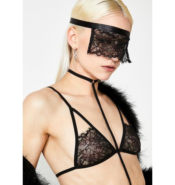 Sister Sinister Lace Lingerie N' Mask Set