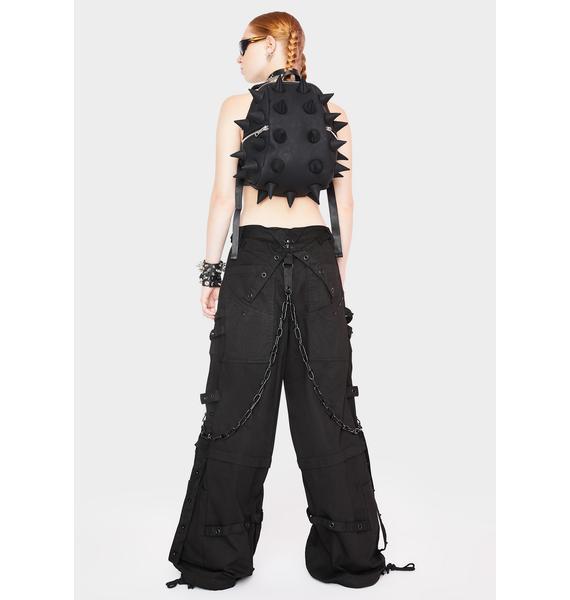 Tripp NYC Black Chain And Zipper Pants