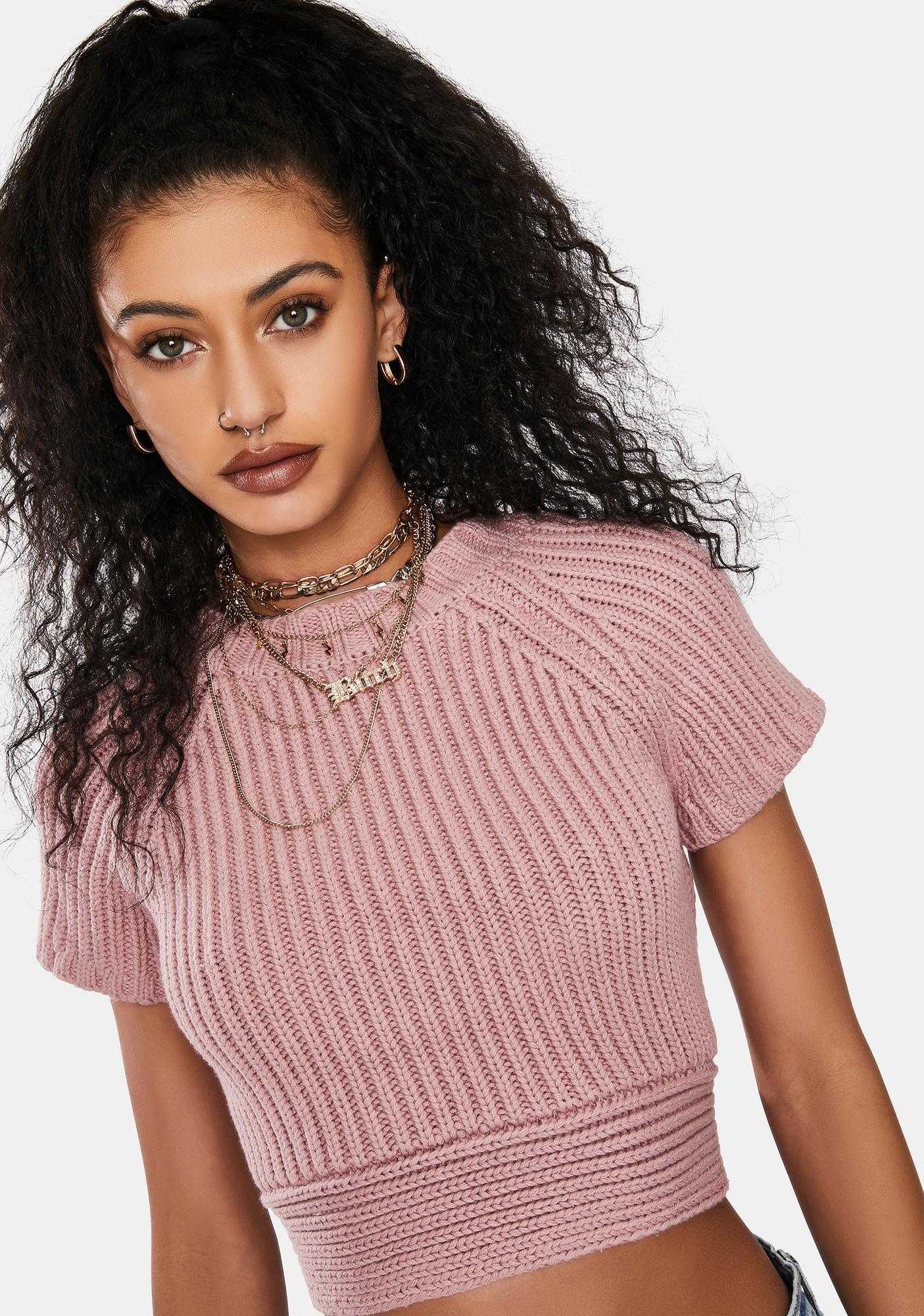 Blush Caught You Looking Tie Back Crop Top