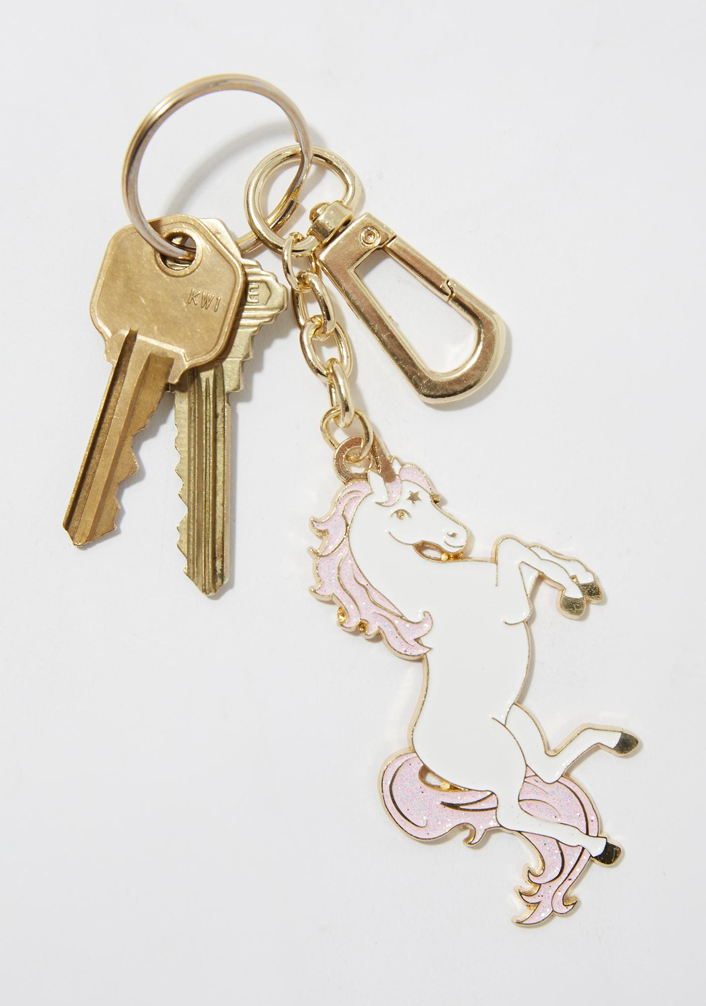 Skinnydip Unicorn Enamel Keychain