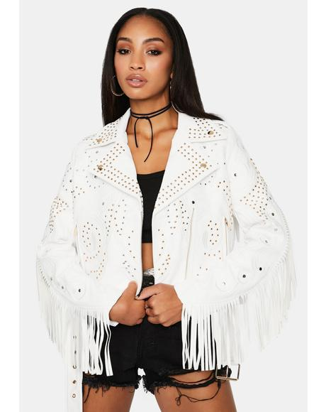 Jones Fringe Moto Jacket