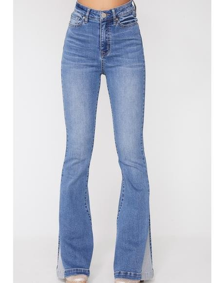 Country Blues Flared Jeans