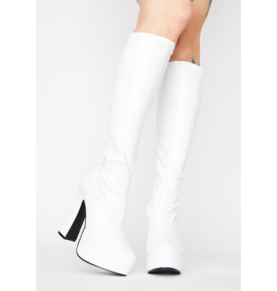 Pleaser Electric Diva Knee High Boots