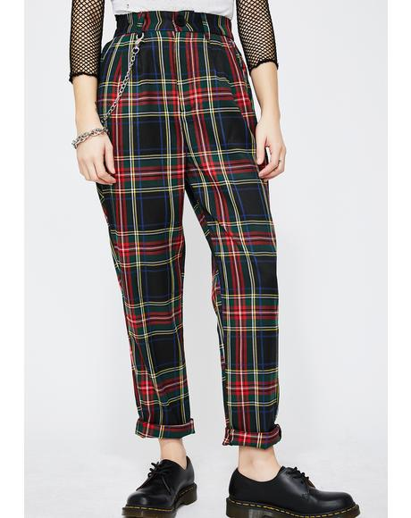 Dank Rebel Instinct Plaid Pants