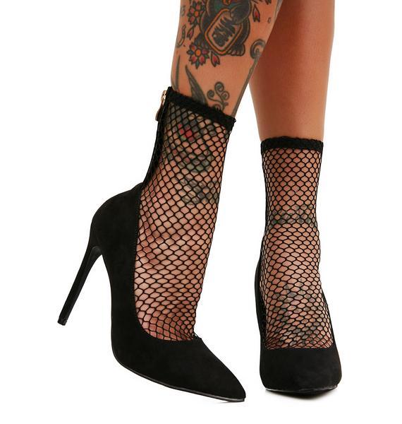 Xaya Fishnet Heels