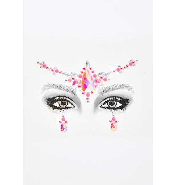 Go Get Glitter Pretty In Pink Face Jewels