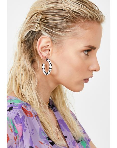Enough Bull Hoop Earrings