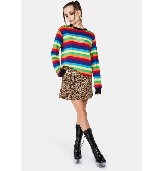 x-Girl Basic Leopard Skirt