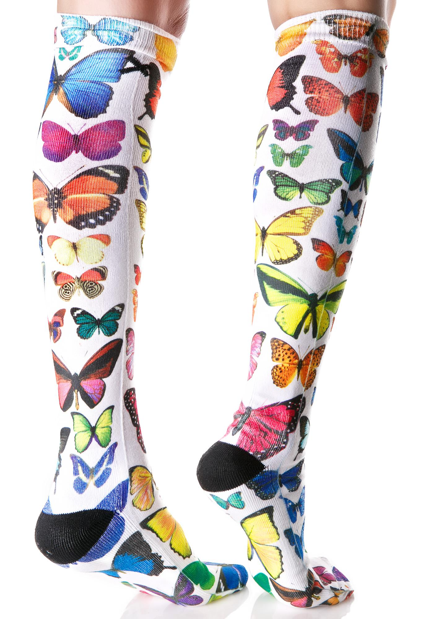 Odd Sox Butterflies Knee High Socks