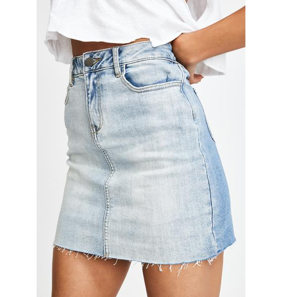 Oliver Logan Seymour Denim Mini Skirt