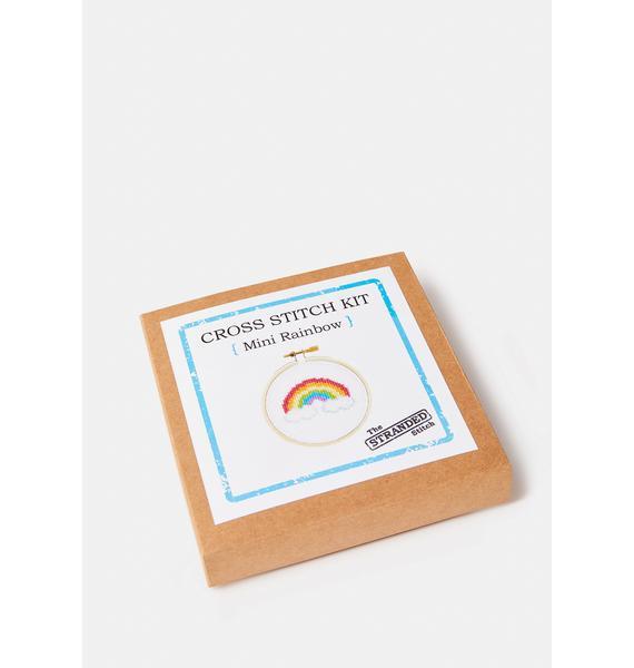The Stranded Stitch Mini Rainbow Cross Stitch Kit