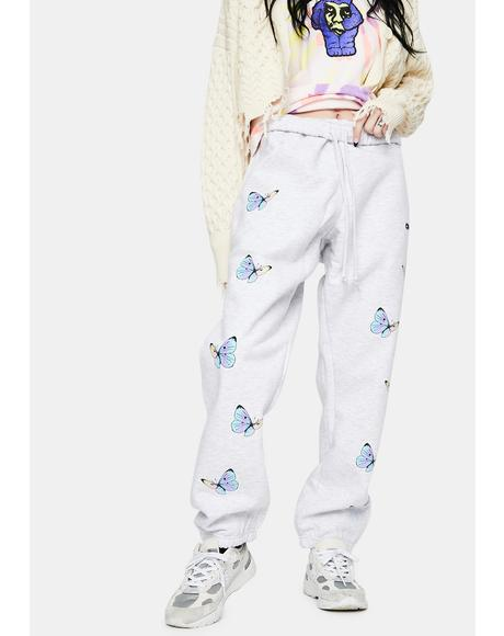 White Kyoto All Eyez Sweatpants