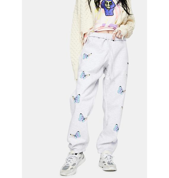 Obey White Kyoto All Eyez Sweatpants