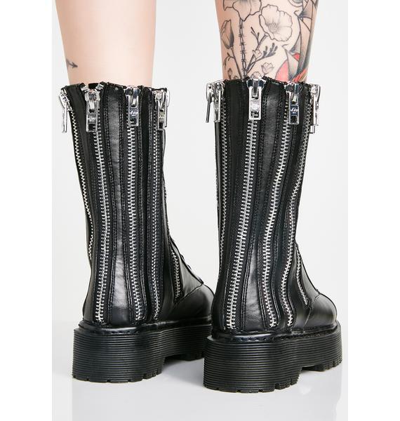 Current Mood Don't Ask Combat Boots