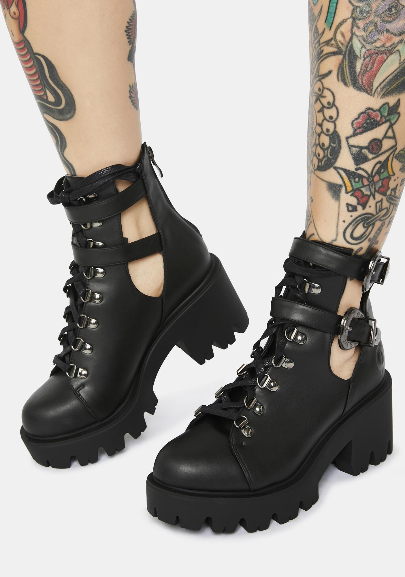 Altercore Sadie Vegan Leather Cutout Boots