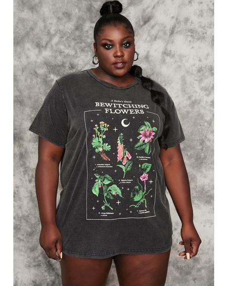 My Essential Herbs Oversized Graphic Tee