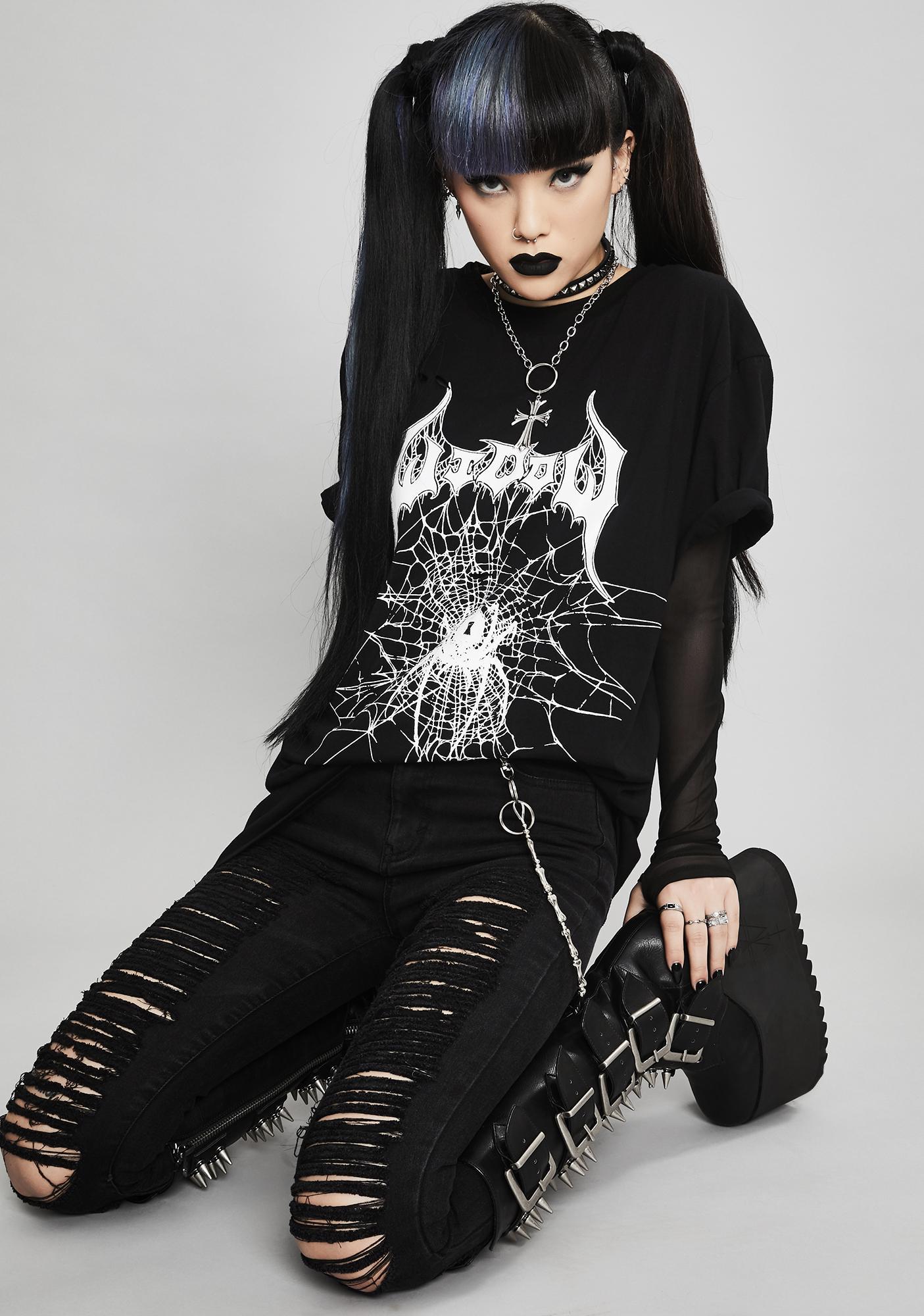 Widow Poisoned Veins Concert Tee