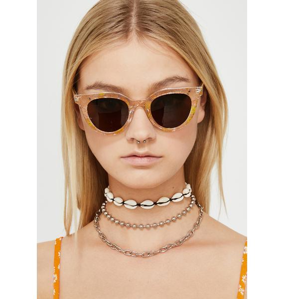 Ain't No Sunshine Floral Sunglasses