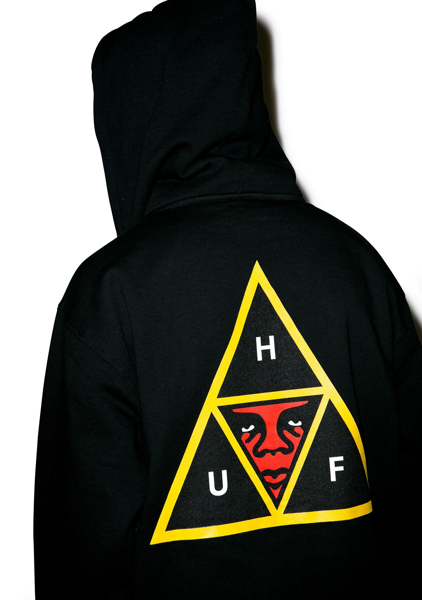 Huf Huf X Obey Icon Zip Hoodie Dolls Kill
