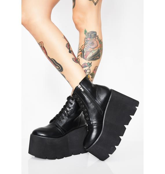 Wicked Comet Crash Platform Boots