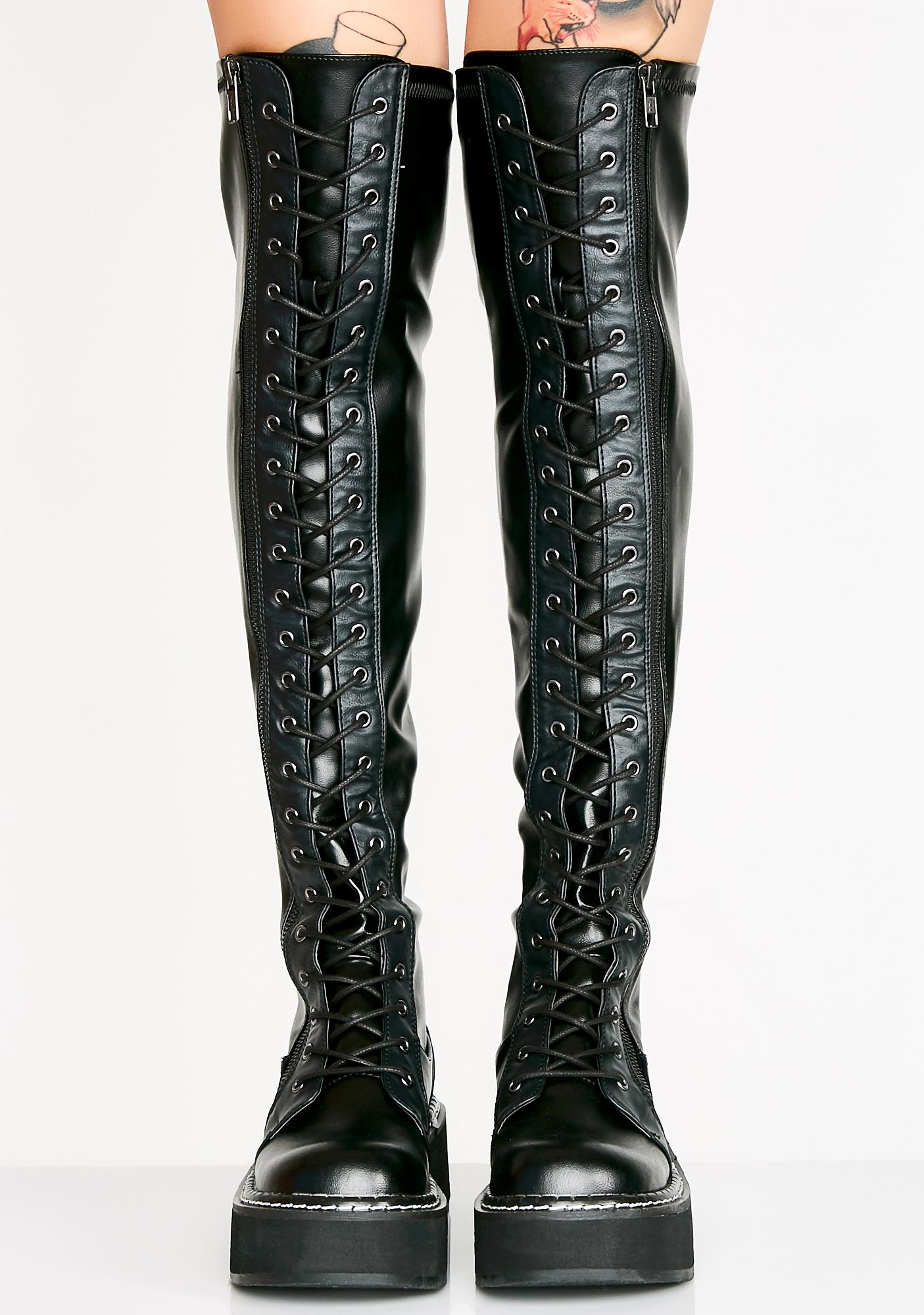 c0627b1aeddd3 Demonia Hellraiser Lace-Up Boots | Dolls Kill