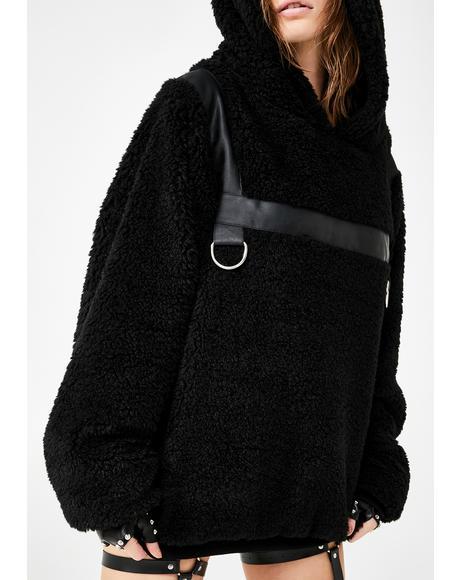 Bondage Bear Faux Fur Hoodie