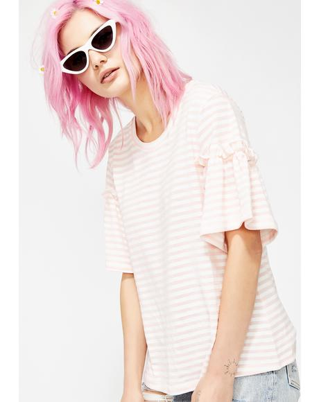 Blush Soft Spot Striped Tee