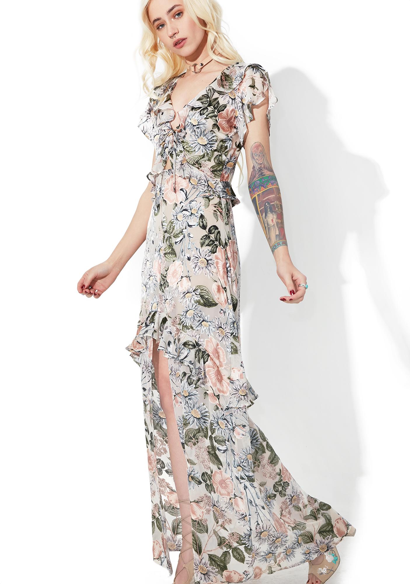 For Love & Lemons Luciana Maxi Dress