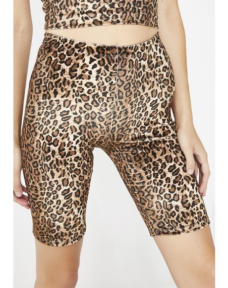 Wild Prey Leopard Shorts
