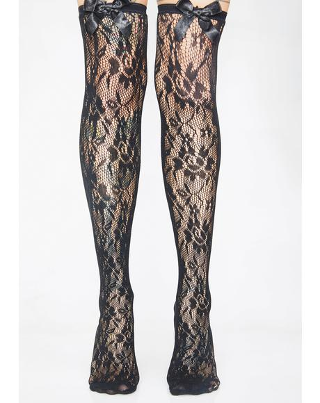 Shady Vixen Lace Thigh Highs