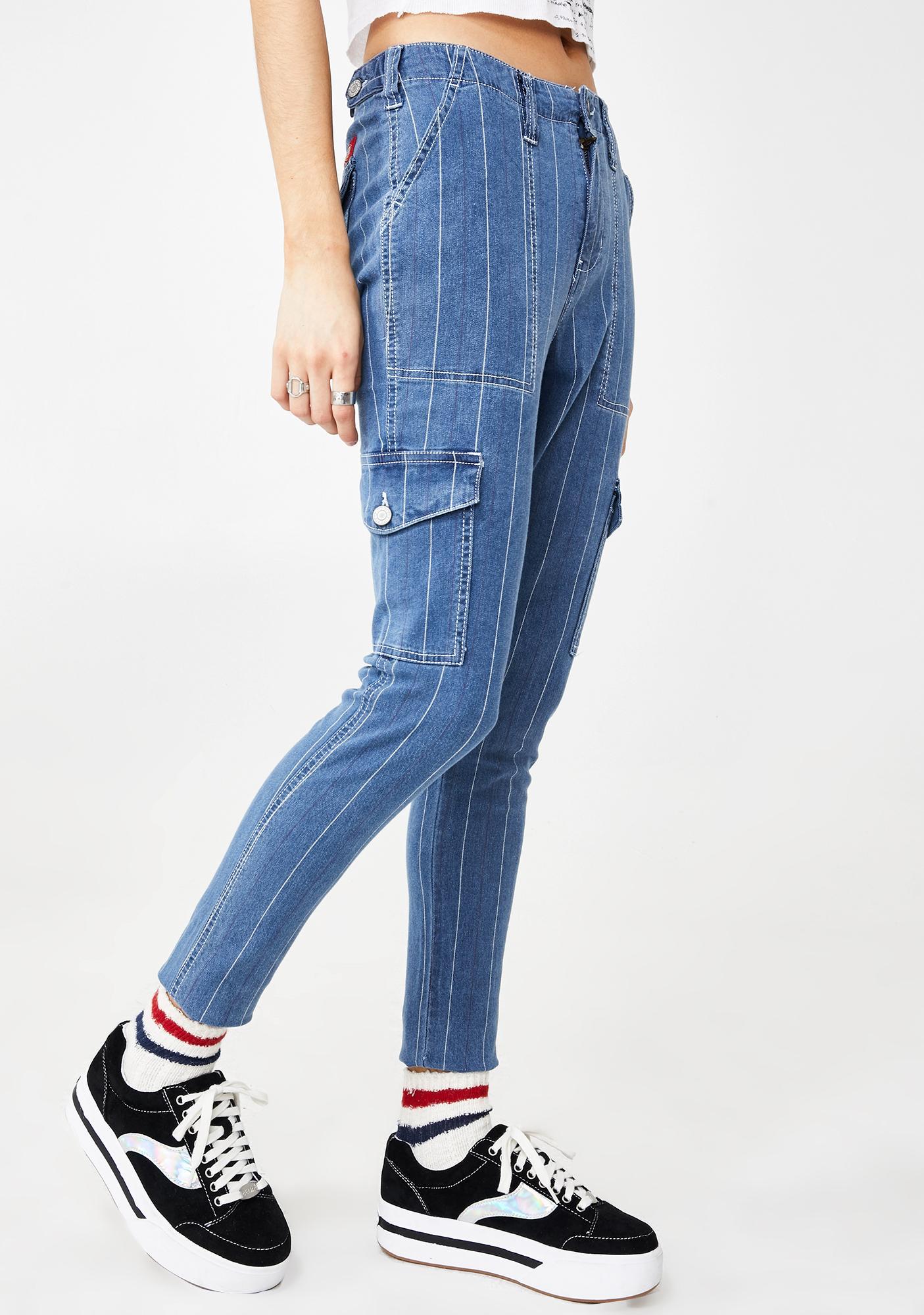 Dickies Girl Utility Cargo Denim Pants
