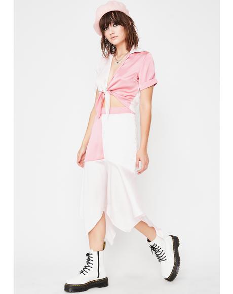 Socialite Sweetener Colorblock Skirt