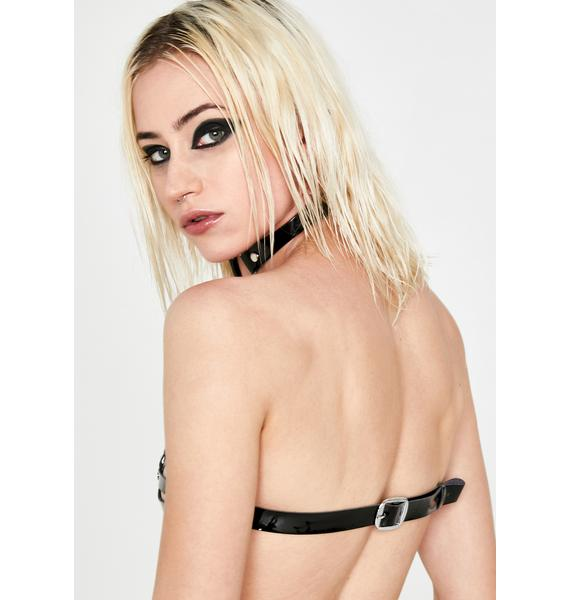 Daisy Corsets Black Bra Harness With Attached Choker