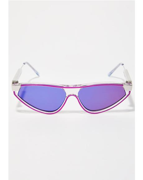 Reflective Snap Sunglasses