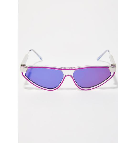 Spitfire Reflective Snap Sunglasses