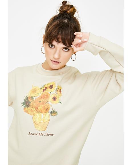 Van Gogh Sunflowers Graphic Sweater
