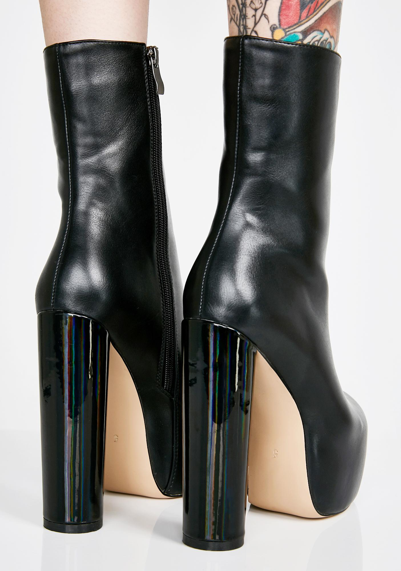 Lamoda Wicked Peace Out Platform Boots