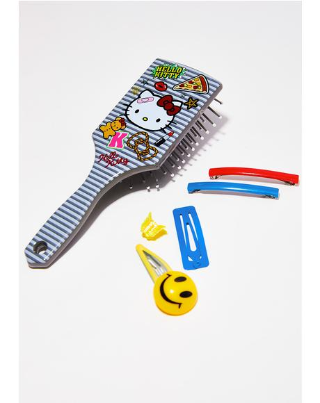 Hello Kitty Patch Hair Brush