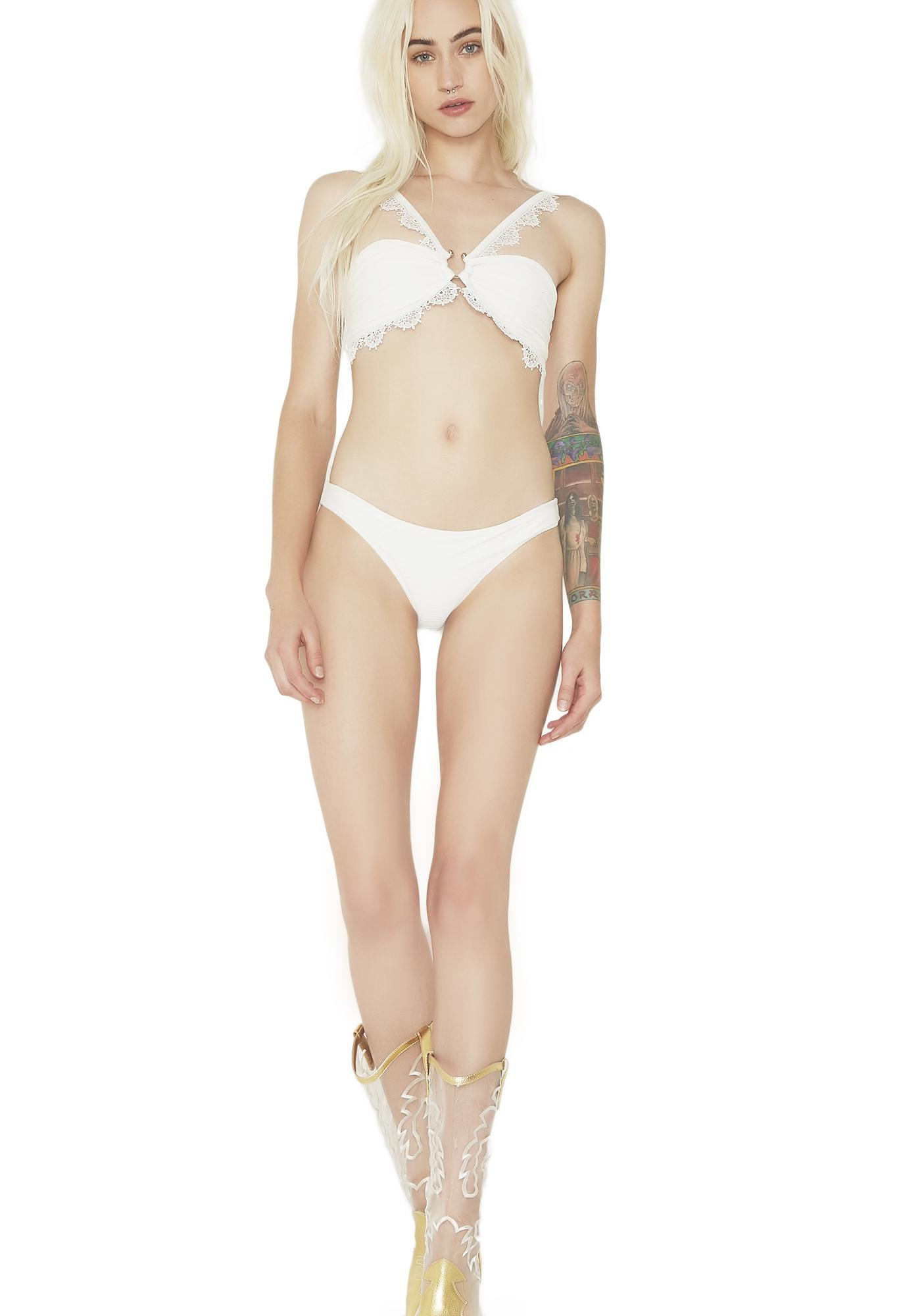 For Love & Lemons La Rochelle Bandeau Bikini Top