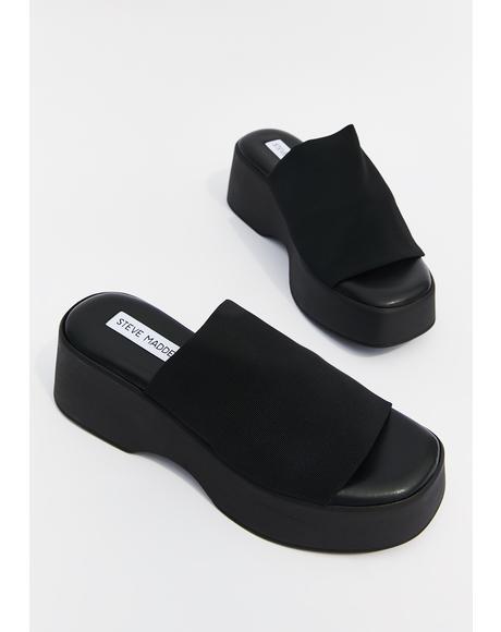 Slinky Platform Slide Sandals