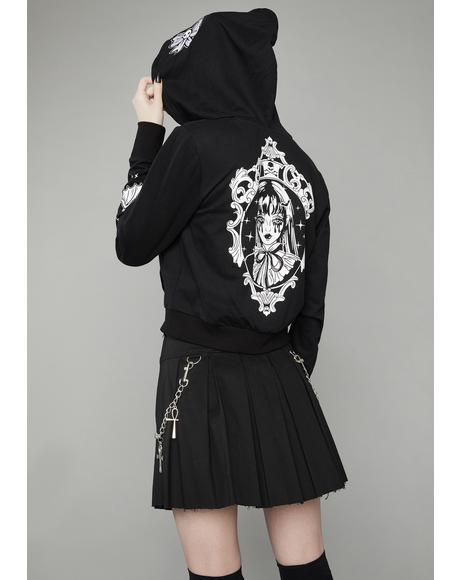 Haunted Portrait Zip Up Hoodie