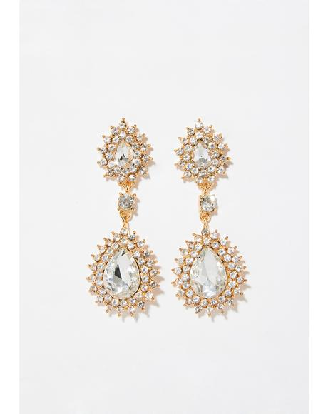 Lustrous Delight Crystal Earrings
