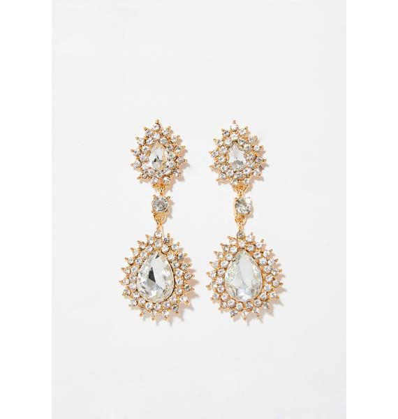 Lustrous Delight Crystal Earrings