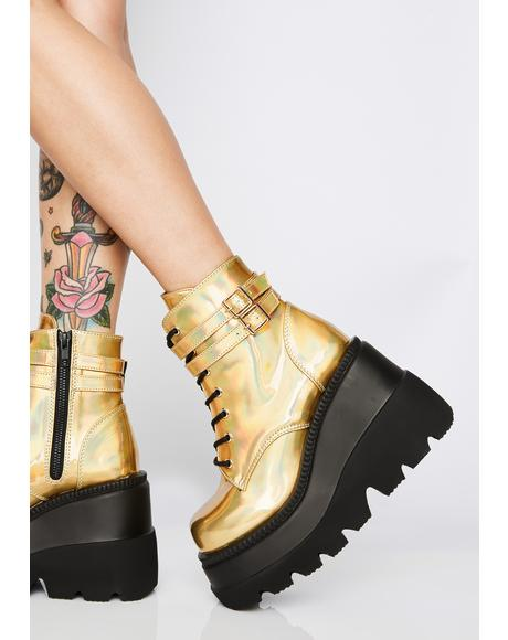 Liquid Gold Technopagan Boots