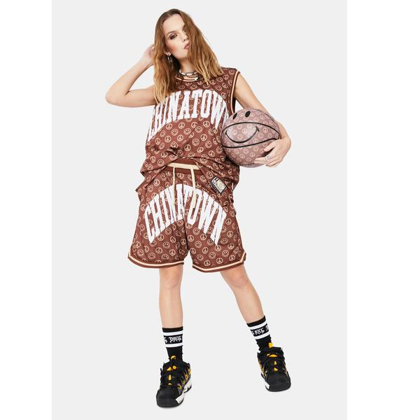 CHINATOWN MARKET Smiley Cabana Basketball Shorts