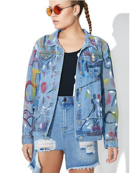 Expressionist Denim Jacket