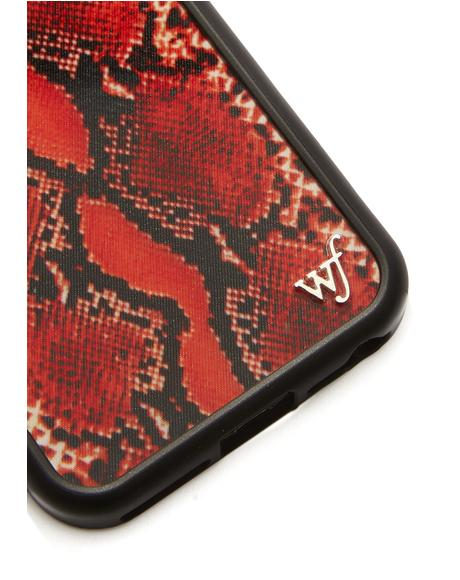 Red Snake Skin IPhone Case